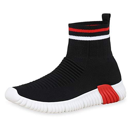 bdba4e428c261 SCARPE VITA Damen Sportschuhe Slip On Sneaker Sock Shoes Strick Schuhe  Sockenschuhe Fitness Laufschuhe 180549 Schwarz 39