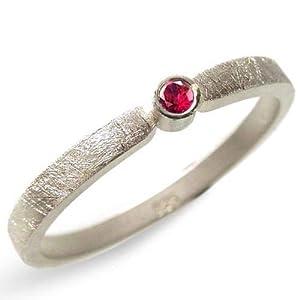 Silberring mit Rubin Verlobungsring, Vorsteckring, Beisteckring, Verlobung - handgefertigt by SILVERLOUNGE