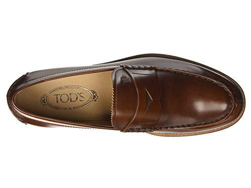 Tods Mocassins homme en Cuir veau brillant marron - Code modèle: XXM0RO00640BRXS003 Cuir