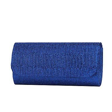 Frauen Abend Tasche Glitter alle Jahreszeiten Hochzeit Event / Party formale Minaudiere Rüschen Magnetic Blue Gold Schwarz Silber Rot Blue