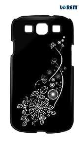 Lorem Back Cover For Samsung Galaxy S3 (i9300)-Black-L26477