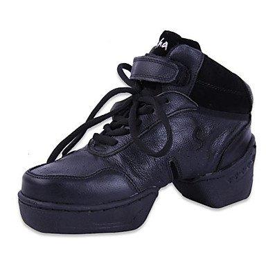 Danza Scarpe in pelle di danza Sneakers talloni delle donne Chunky Practice tallone prestazioni nero, nero, US9 / EU40 / UK7 / CN41 Black