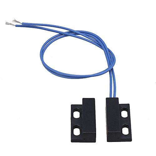 sgerste schwarz AC110–220V NC Magnetischer Tür Fenster Reed-Schalter Normalerweise geschlossen Magnetischer Tür Kontakte Schalter