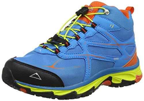 McKINLEY Unisex-Kinder Evosome MID Aquamax Trekking- & Wanderstiefel, Blau (Blue/Red/Green 904), 36 EU