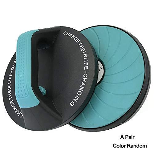 Liegestützstange, 1 Paar, runder Liegestützgriff, drehbar, um 360 Grad Armstärke, Fitness-Übungsständer, reduziert Handgelenkbelastung, Farbe zufällig nach oben