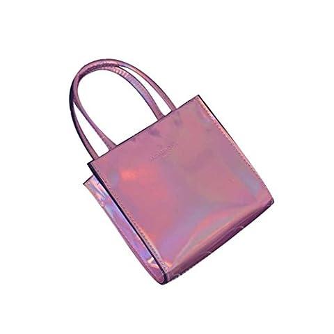 Sac LILICAT Femmes Mode Little Square Sac à main / Sac à bandoulière / fFurre-tout (Pink)