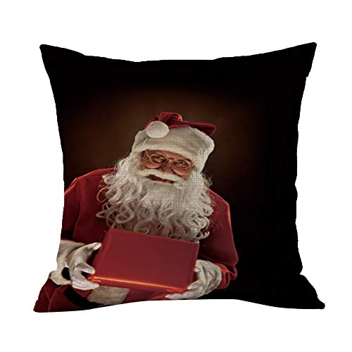 HEVÜY 45X45 cm Kissenbezug Leinen Kissenbezüge Kissenhülle Sofakissen Couch Dekokissen Bezüge Sofa Dekoration Bettwäsche