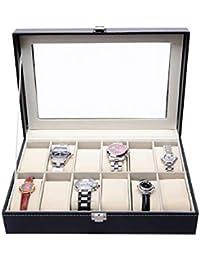 ecc8e373176b Caja para Guardar 12 Relojes de Hombre y Mujer. Estuche Organizador de Joyas  y Pulseras