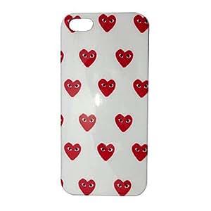 acheter Coeur rouge vilain avec le cas Yeux Motif Retour pour iPhone 5/5S