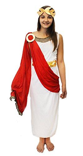 Römisch/Griechische Göttin damen Kinder kostüm Passt 9-12 jahre alt von Best Dressed