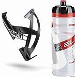 eLITe Kit Supercorsa/Paron Trinkflasche & Halter 750 ml Clear-rot/schwarz-weiß 2018 Trinksystem