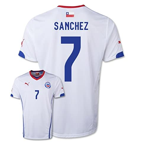 2014-15 Chile World Cup Away Shirt (Sanchez 7)