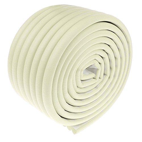 SYGA Baby Lining Strip Furniture Edge Guard Cushion Corner Cover, White (2 Meter 6.5 feet Tape)