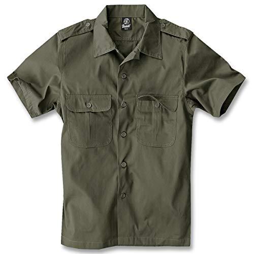 Brandit US Hemd Kurzarm Oliv - 5XL (Grün Soldat Kostüm)