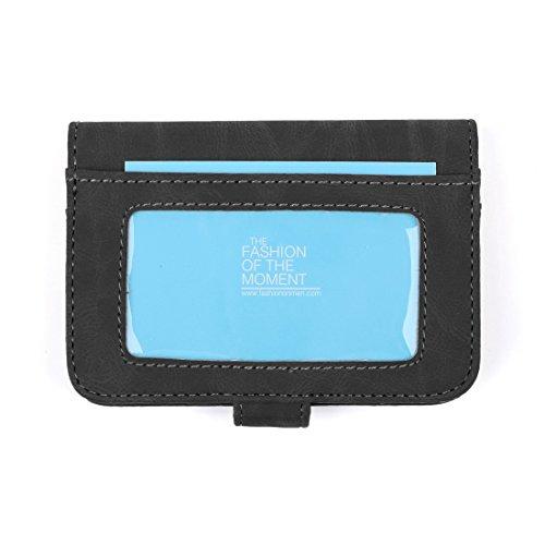 ECM14.01 Infinity Kunstleder Brieftasche / 4 Kartenhalter / 10 Extra ID Cases Von Epoint ECM1406-Schwarz