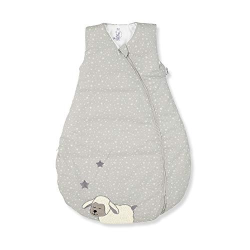 Sterntaler Schlafsack für Kleinkinder, Ganzjährig, Funktionsschlafsack Schaf Stanley, Reißverschluss, Größe: 80, Grau