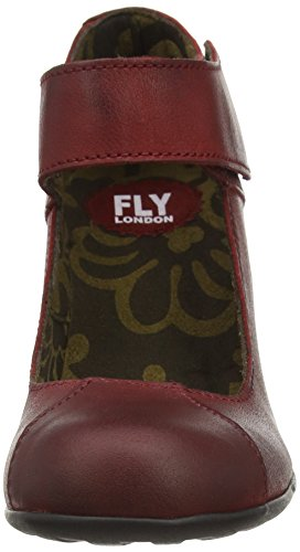 FLY London Jupe, Sandales Bout Ouvert Femme Rouge (Red 009)