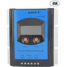 MPPT Contrôleur de Charge Solaire, Akozon 12V-48V Panneau Solaire Régulateur  de Charge Batterie cb94d3d9b415