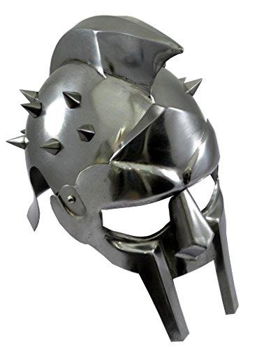 Latón diseño de fecha con disfraz de gladiador par hombre Armor casco...
