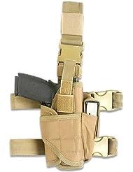 Ajustable de pierna para pístola táctica Airsoft pistola de gota pierna cinturón pierna htuk®, canela