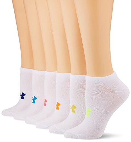 Under Armour Damen und Mädchen Sport Socken UA Essentials No Show 6er Pack weiss