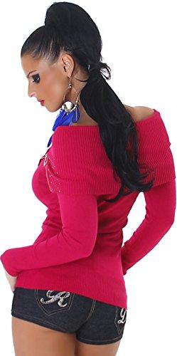 Jela London -  Canotta  - Basic - Maniche lunghe  - Donna Dunkles Pink