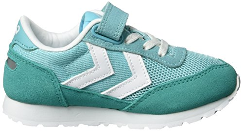 Hummel Reflex Sport Jr, Sneakers Basses Mixte Enfant Vert (Blue Radiance)