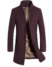 Vogstyle Uomo Sottile Caloroso Cappotto Invernale di Lana(XS-XL) 605dd1dfff9