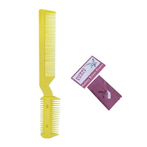 Heißen Kamm Schwarze Haare (HARRYSTORE 1PC DIY Haar Rasiermesser Kamm Frisur Verdünnung Trimmer Home Professional Trimmwerkzeug)