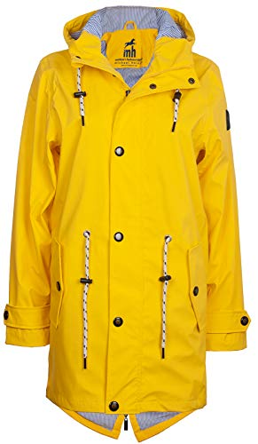 Friesennerz | Maritime Jacke | Regenjacke | veredelt | Das Original aus Ostfriesland in 2 Modell Norderney (S, Hellgelb)