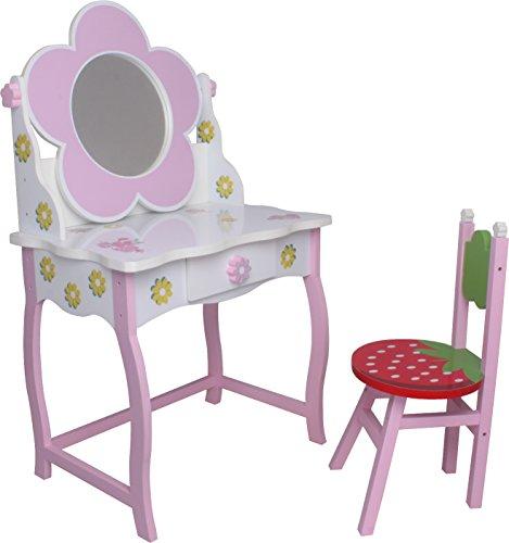 SCHMINKTISCH #264 Kinderschminktisch Frisiertisch Kindertisch Sitzgruppe Spiegel Hocker habeig®