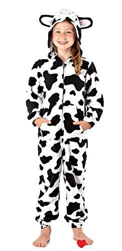 Girls-Fleece-Onesie-Animal-Hooded-Pyjamas-Pajama-Sleepwear-Nightwear