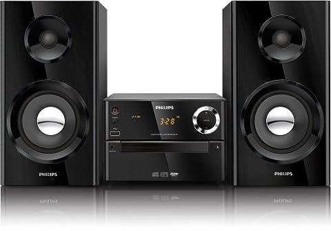 Philips MCM2150/12 Mini-Stereoanlage (Bassreflex-System, USB-Direct, Audio-IN, 70 Watt) schwarz