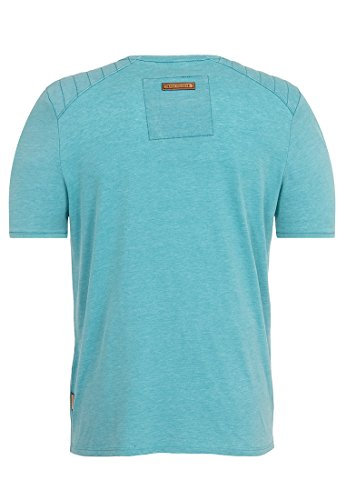 Naketano Male T-Shirt In der Genitalunion Heritage Fresh Blue Melange