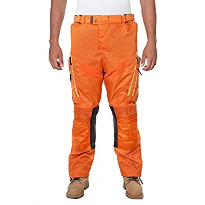 OneDayMore Men's Motorcycle Cordura Trousers. 100% Waterproof & Breathable Motorcycle Pants with Free Protectors..