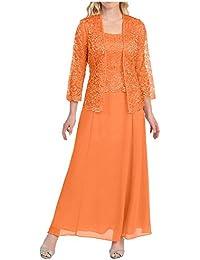 La mia Braut Herrlich Rosa Spitze Brautmutterkleider Abendkleider  Promkleider Ballkleider Knoechellang mit… 37bfd771e9