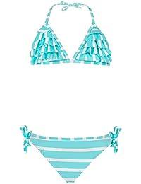 2845f776f2 Snapper Rock Mädchen Rüschen Bikini UV UPF 50+ Süβ & Flott Sommer  Badekleidung für Kinder