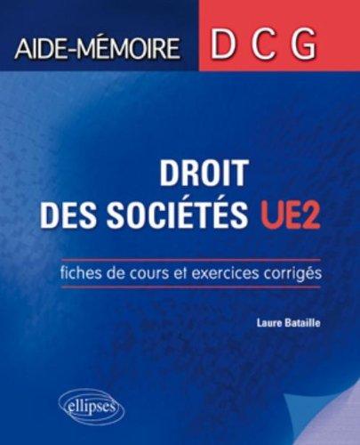 Dcg2 Droit des Sociétés Fiches de Cours & Exercices Corrigés