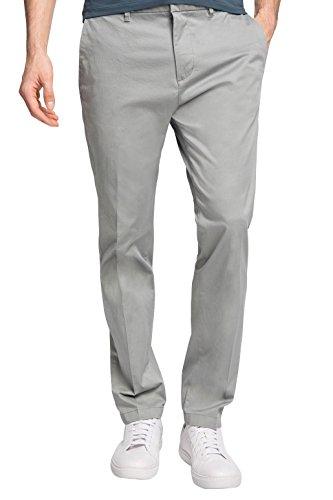 Esprit *Ess Chino Slim - Pantalon De Costume - Chino - Homme Gris - Grey (Light Grey)