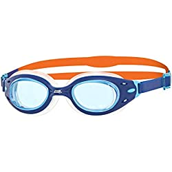 Zoggs Kinder Sonic Air Jnr Schwimmbrille, Blue/Orange/Clear, One Size