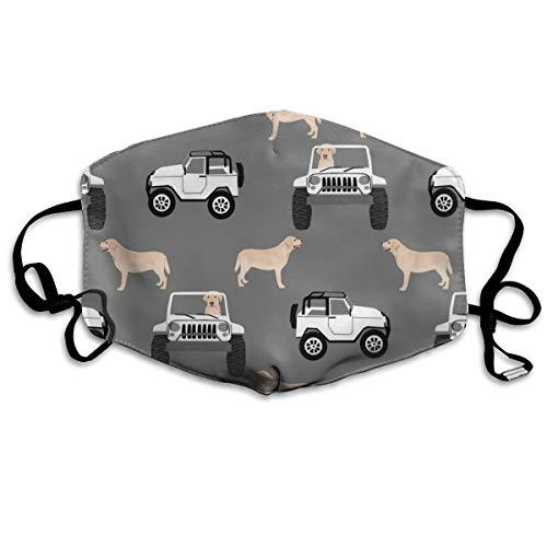 Yellow Lab Adventure Anti-Staub-Maske, für den Außenbereich, für Hunde, Hunde, Labrador, waschbar, wiederverwendbare Mundmasken (Kostüme Lab Hunde)
