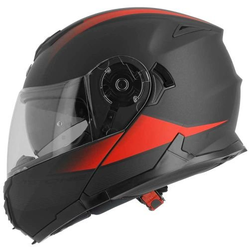 ASTONE casco modulable rt1200 Vanguard talla negro mate rojo, talla S