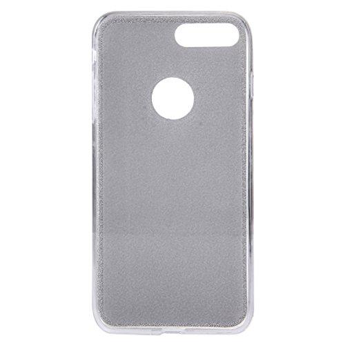 BING Für IPhone 7 Plus Glitter Powder Soft TPU Schutzhülle BING ( Color : Black ) Silver