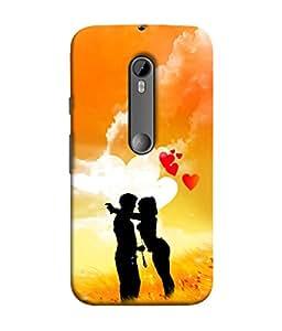 PrintVisa Designer Back Case Cover for Motorola Moto G3 :: Motorola Moto G (3rd Gen) :: Motorola Moto G3 Dual SIM (Vacation Romantic couple)