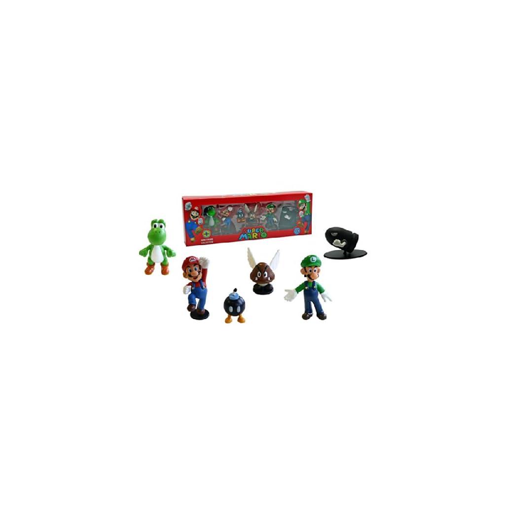 Abysses Corp - Conjunto de 6 Figuras Super Mario - Super Mario: Set 6 figuras , color/modelo surtido 5