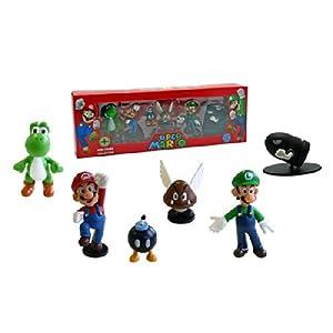 Abysses Corp - Conjunto de 6 Figuras Super Mario - Super Mario: Set 6 figuras , color/modelo surtido 10