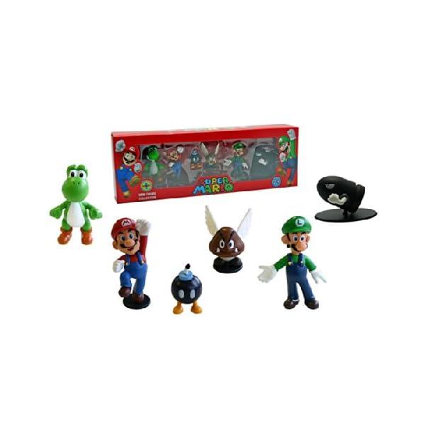 Abysses Corp - Conjunto de 6 Figuras Super Mario - Super Mario: Set 6 figuras , color/modelo surtido 1
