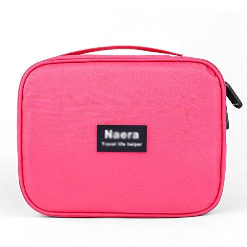 Zedo Kosmetiktasche Make-up Tasche Hand Tasches Kosmetiktasche Tragbare Kosmetiktasche mit großer...