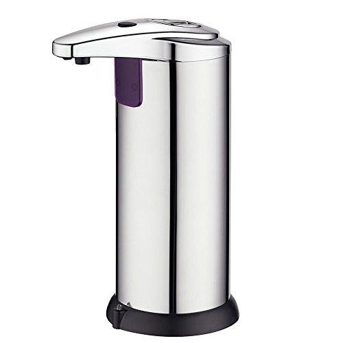 TGY Dispensador de Jabón Automático Táctil Dispensador de Jabón IR Infrarrojo Sensor de Movimiento Mano Libre Jabón para Cocina y Baño