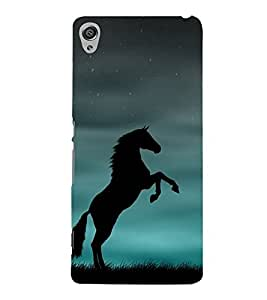 Shadow Jumping Horse 3D Hard Polycarbonate Designer Back Case Cover for Sony Xperia XA :: Sony Xperia XA Dual